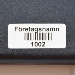 Idamex - streckkodsetiketter - petsäker vinyl 44x19 mm