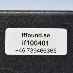 If found, upphittade föremål kan snabbt återlämnas till sin ägare.